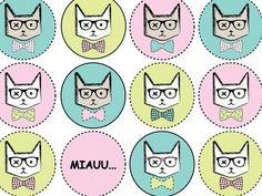 "Wzór dnia/Pattern od the day: grafika z katalogu ""Zwierzęta""/graphics from"" The Animals"" catalogue: Pastels Cats http://cottonbee.pl/tkaniny/zwierzeta/5821-pastels-cats.html"