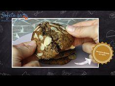 Αφράτα μπισκότα αμυγδάλου και βρώμης με σοκολάτα, χωρίς ζάχαρη!