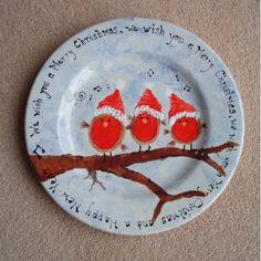 painting a christmas plate | Personalized Pottery | Hand Painted Gifts | Special Occasions