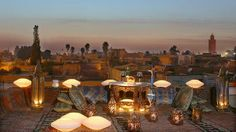 Rooftop view in Marrakesh, Morocco