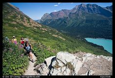 Grinnell Glacier trail, Montana  Did this hike and was harder than I thought.. Constant up hill incline...Well Worth the climb....