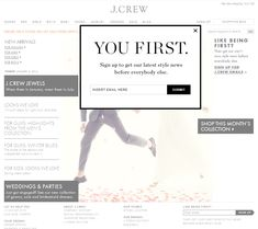 J.Crew | newsletter | newsletter signup | email form | email | email marketing…