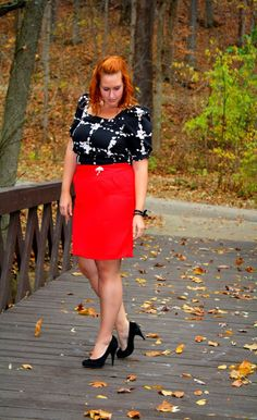Tucking a short dress into a skirt makes a mini appropriate for nice events