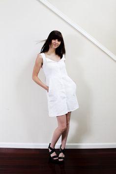 RTS SAMPLE SALE Chloe Linen Dress by SCRTartistsCLUB on Etsy, $79.00