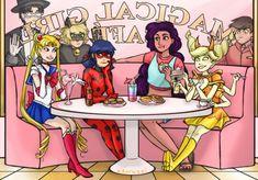 Sailor Moon, Miraculous, Steven Universe and Star vs the Force of Evil Ladybug Y Cat Noir, Meraculous Ladybug, Ladybug Comics, Starco, Lady Bug, Steven Universe, Desenhos Cartoon Network, Adrien Y Marinette, Miraculous Ladybug Funny