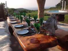 Dining with a view at T'Niqua Stable Inn, Plettenberg Bay Stables, Dining, Dinner, Food, Horse Stables, Horse Stalls