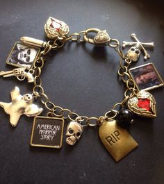 American horror story charm bracelet Tate and violet