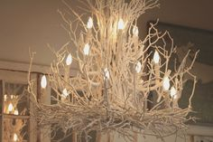 whimsical chandelier    from warmthcompany.com