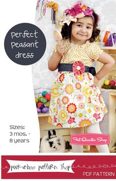 Perfect Peasant Dress Downloadable PDF Pattern Peek-a-Boo Pattern Shop