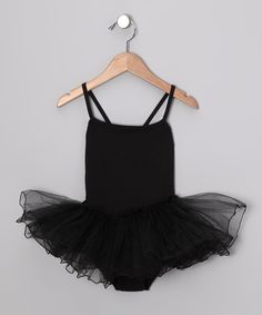 Take a look at this Seesaws & Slides Black Skirted Leotard - Toddler & Girls on zulily today!