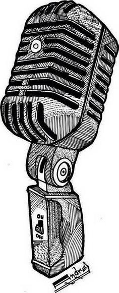 Microphone #art #draw #drawing #lines #sketch #sketchbook #illustration #microphone #arte #desenho #linhas #ilustração #microfone #posca #atelie3 https://instagram.com/atelie_3/