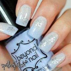 NailExperiments - Easy Peel Latex Barrier Beyond the Nail - Winter Wonderland Beyond the Nail - Spring Blue Creme Beyond the Nail - Scattered Holographic Topcoat Beyond the Nail - Snowflake Nail Decals PRO-FX - Quick Dry Topcoat