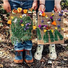 Forest School Activities, Nature Activities, Spring Activities, Preschool Activities, Outdoor Learning, Home Learning, Art For Kids, Crafts For Kids, Weaving Projects