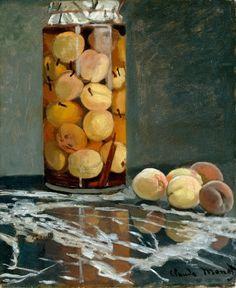 1866 Claude Monet Jar of peaches(Dresden Kunstsammlungen)(55,5 x 46cm)