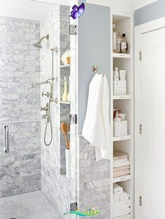 17 Money-Saving Tips to Stretch Your Small Bathroom Budget Remodeling your bathroom on a small budget is possible with our great ideas! Learn tips and tricks to make the most of your bathroom remodel budget by choosing efficient but cheap materials and cutting costs with the appropriate items.<br> Renovating a bathroom can be expensive, but you don't have to compromise style or function on a small budget. Thoughtful selections and creative use of existing space and materials will help you… Diy Bathroom Remodel, Budget Bathroom, Bathroom Renovations, Bathroom Ideas, Bathroom Closet, Bathroom Trends, Bathroom Styling, Bathroom Hooks, Kitchen Remodel
