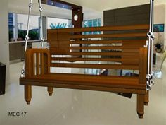 Buy contemporary version of Indian porch wooden swing set at Minesh Engineering available in lower seating arrangement and additional legs. Indian Swing, Wooden Swings, Patio Seating, Indian Home Decor, Porch Swing, Outdoor Furniture, Outdoor Decor, Mumbai, Modern Decor