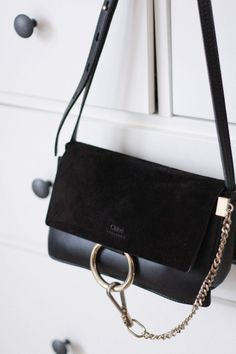 The Small Black Chloe Faye Bag Chloé, Faye, Black, Bag www. Chloe Bag, Faye Bag, Bag Prada, Luxury Bags, Luxury Handbags, Designer Handbags, Designer Purses, Chanel Handbags, Chanel Tote