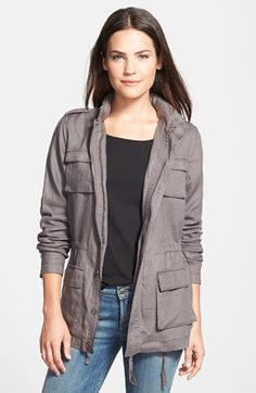 Olivia Moon Hooded Cargo Jacket available at #Nordstrom