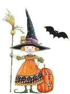 Mary Engelbreit - Halloween Witch