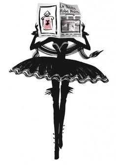 """Publicité pour """"La petite robe noire"""" de Guerlain."""