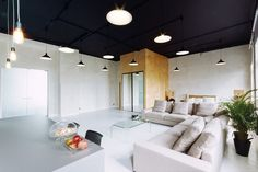 Series of hanging lights - Why You Should Ditch your Traditional Ceiling and Adopt Dramatic Black Ceilings