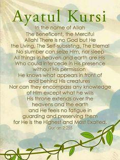 Verse Al Kursi from the quran :)