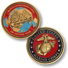 U s Marine Corps I Marine Expeditionary Force USMC Bronze Challenge Coin My Marine, Us Marine Corps, Military Challenge Coins, Military Life, Usmc, Challenges, Bronze, Antiques, Badges