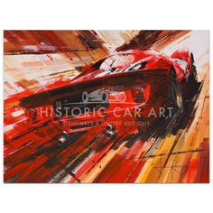 Limited edition amazing motorsport car art prints by a wealth of artists. Authentic, original, stunning art and more at Historic Car Art. Speed Art, Automotive Design, Auto Design, Aerial Arts, Full Throttle, Car Posters, Impressionist Art, Car Painting, Sports Art