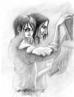 Snarry art by Sangrill Harry And Hermione Fanfiction, Hp Fanfiction, Harry Potter Films, Harry Potter Fan Art, Half Prince, Short Comics, Severus Snape, Drarry, Fantastic Beasts