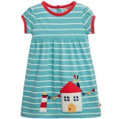 Frugi Blue 'Summer Ruby' Organic Cotton Jersey Dress at Childrensalon.com