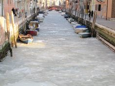 Winter Italy   Venice 1985   --laguna venezia gelata 1985