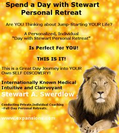 Spend a day with Stewart A. Swerdlow, don't miss out on this great opportunity - His diary is filling up very fast for 2016. http://www.expansions.com/spend-a-day-with-stewart-personal-retreat/