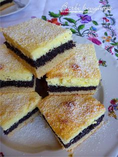 Hungarian Desserts, Hungarian Cake, Hungarian Recipes, Cookie Recipes, Dessert Recipes, Eastern European Recipes, Winter Food, Yummy Drinks, Food And Drink