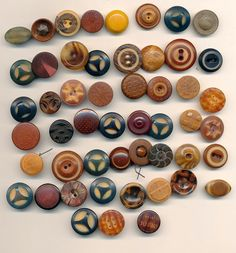 PRICE REDUCED Antique Vintage Tagua Nut Buttons by AnnieFrazier #buttonlovers