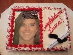Reminder: At no point did this cake decorator question putting a cat (instead of a cap) on her head, in this graduation cake: