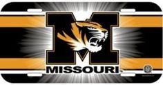 Missouri Tigers License Plate