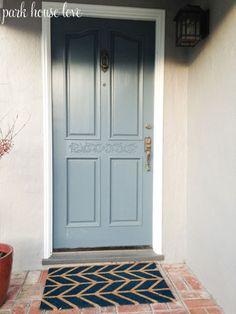 DIY spray paint door mat