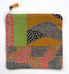 Patchwork Foldover Clutch by Jen Hewett
