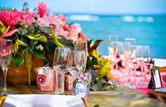Such fun colors for Hawaii weddings