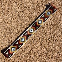 Newaygo Bead Loom Cuff Bracelet Native American Style Beaded Jewelry Boho Tribal…