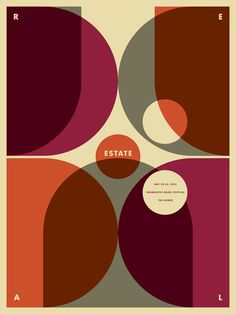 Real Estate Gig Poster by Jason Munn / The Small Stakes