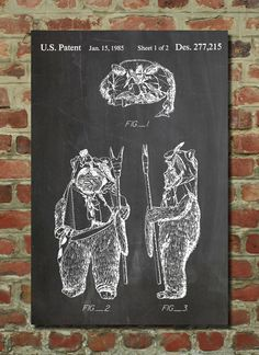 Ewok Patent Wall Art Poster by PatentPrints on Etsy, $6.99
