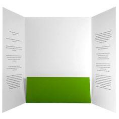 Custom Printed Center Pocket Gatefold Presentation Folder