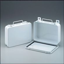 "@ShopAndThinkBig.com - This Horizontally Configured Empty Metal First Aid Case Features 1 Shelf, Hinges And A Gasket. Holds Up To 16-Units Of Product.Kit Dimensions: 9-1/16""x6-5/16""x2-3/8""… http://www.shopandthinkbig.com/16-unit-empty-metal-case-hinged-gasket-9-116-in-6-516-in-2-38-in-horizontal-1-ea-first-aid-only-p-7142.html"