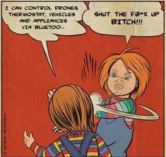 Chucky VS buddi Chucky Horror Movie, Horror Movies Funny, Horror Movie Characters, Scary Movies, Child's Play Movie, Childs Play Chucky, Horror Drawing, Slasher Movies, Blu Ray Movies