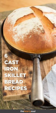 6 Cast Iron Skillet Bread Recipes That Are Actually Good for You The Hearty Soul Cast Iron Skillet Cooking, Skillet Bread, Iron Skillet Recipes, Cast Iron Recipes, Cooking With Cast Iron, Cast Iron Pizza Recipe, Cast Iron Skillet Cornbread, Lodge Skillet, Skillet Food