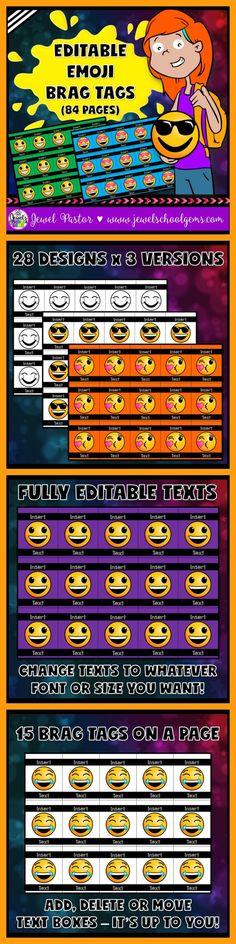 BRAG TAGS ❤ Editable Brag Tags ❤ Emoji Brag Tags ❤ Do you like brag tags? Do you…