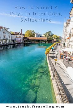 Interlaken is located between Lake Thun and Lake Brienz in Switzerland. Here is our guide for how to spend 4 days in Interlaken, Switzerland! Cuba Resorts, Hotels And Resorts, Cuba Travel, Solo Travel, Lake Thun, Beau Site, European Travel, Day Trips, Trip Planning