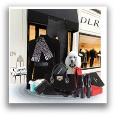 Shop DLRBOUTIQUE.COM by sgolis on Polyvore featuring Misha Nonoo, Yves Saint Laurent, Jimmy Choo, Valentino, Chanel and Balmain