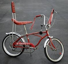 """banana seats baby!  I always wanted one of these . . . my cousin rode the """"cool"""" banana seat bike!"""